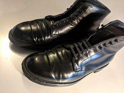 Black Shell Cordovan Plain Toe Boot